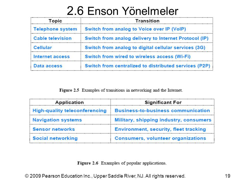 2.6 Enson Yönelmeler © 2009 Pearson Education Inc., Upper Saddle River, NJ. All rights reserved.