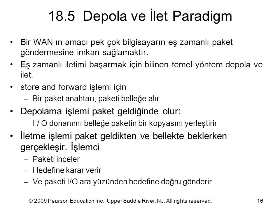 18.5 Depola ve İlet Paradigm