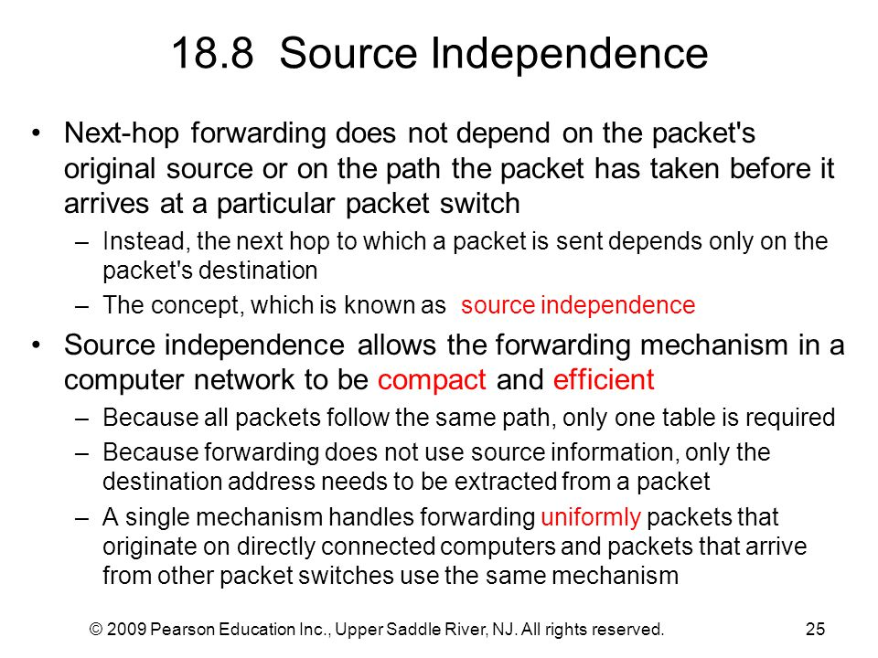 18.8 Source Independence