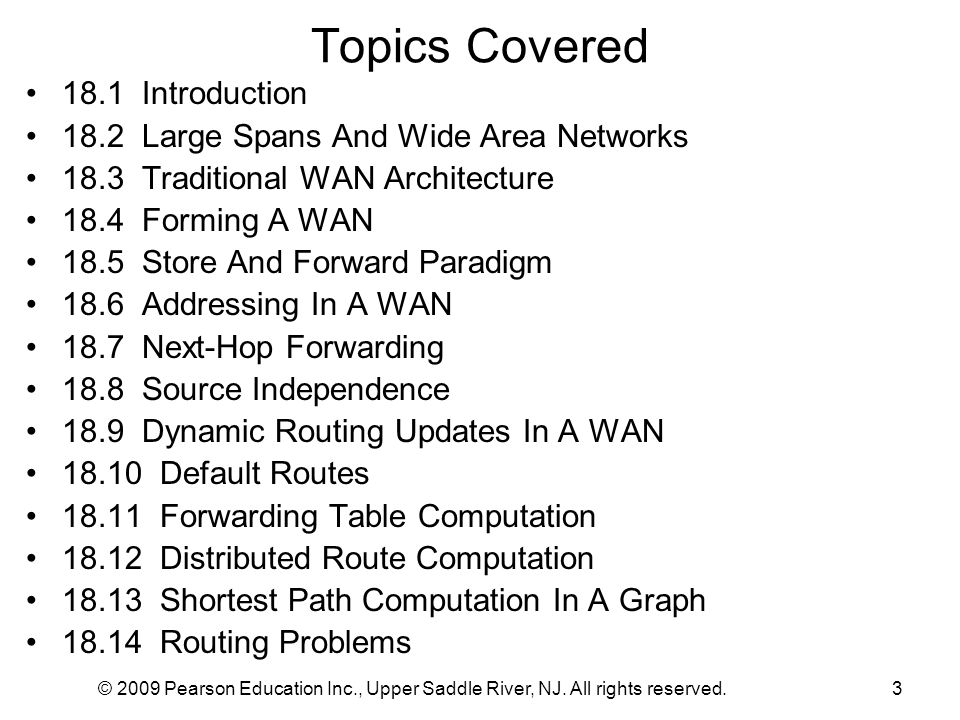 Topics Covered 18.1 Introduction