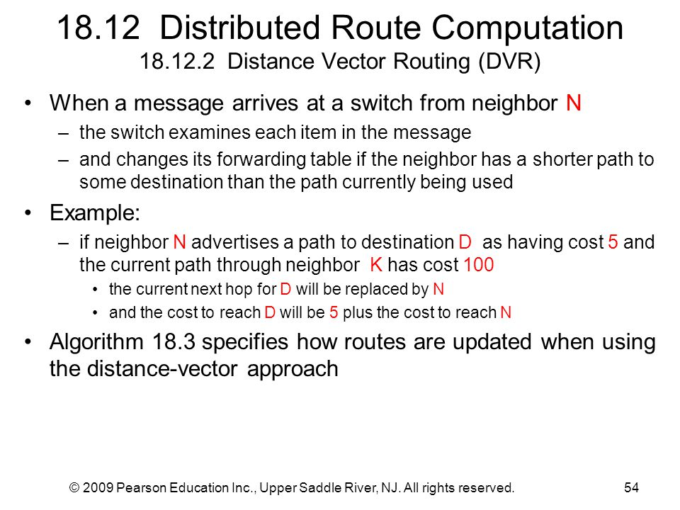18. 12 Distributed Route Computation 18. 12