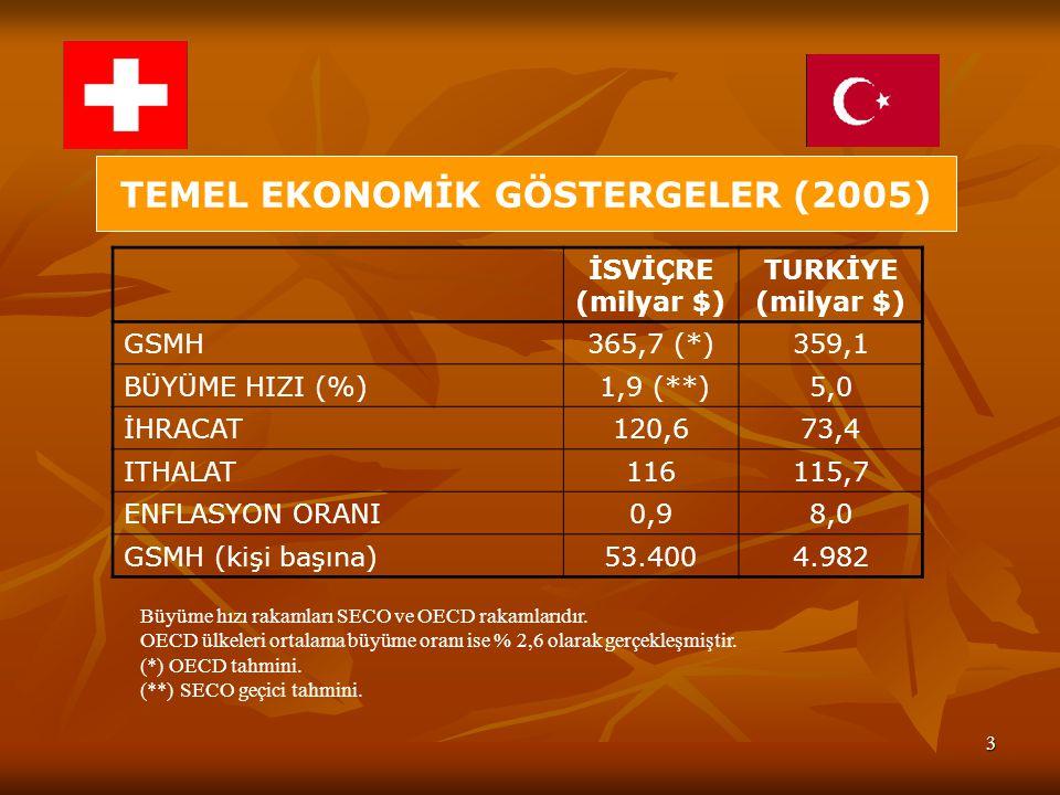 TEMEL EKONOMİK GÖSTERGELER (2005)