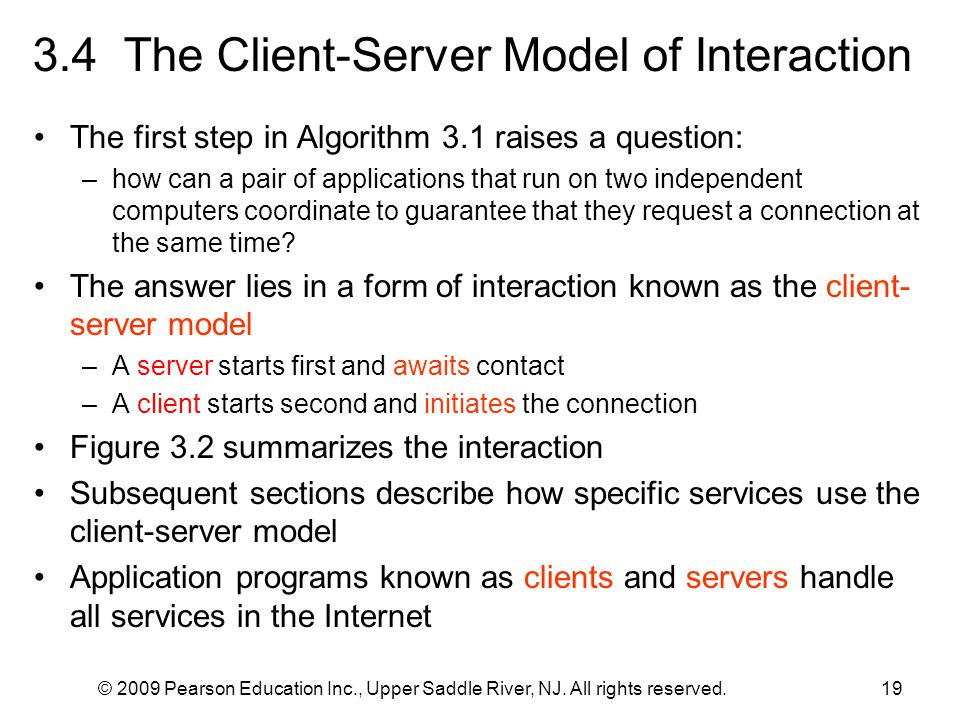 3.4 The Client-Server Model of Interaction