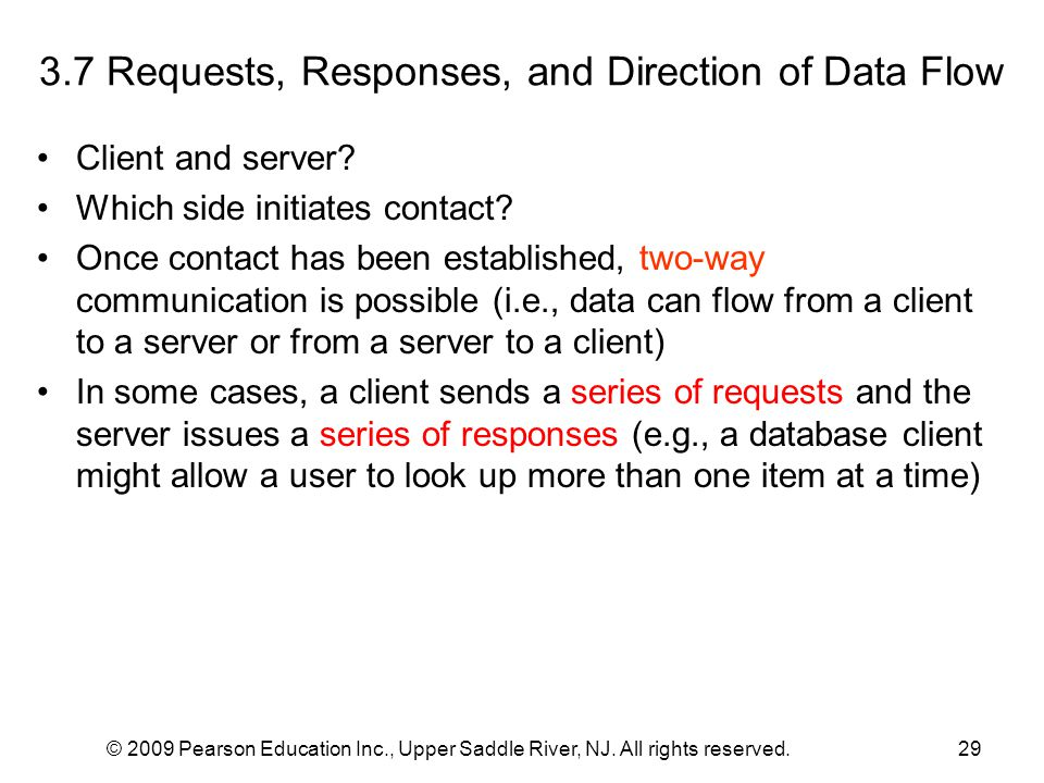 3.7 Requests, Responses, and Direction of Data Flow