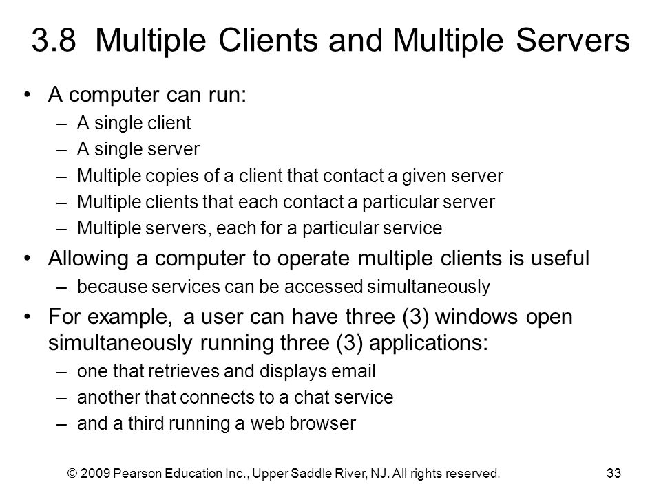 3.8 Multiple Clients and Multiple Servers
