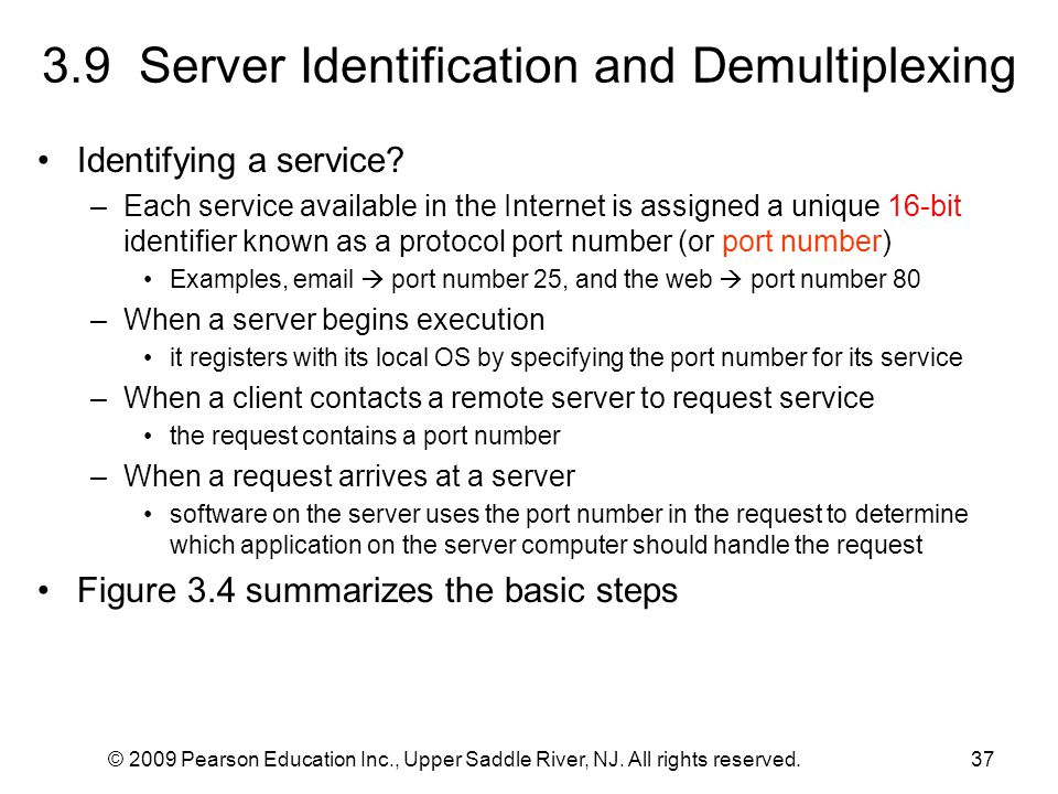 3.9 Server Identification and Demultiplexing