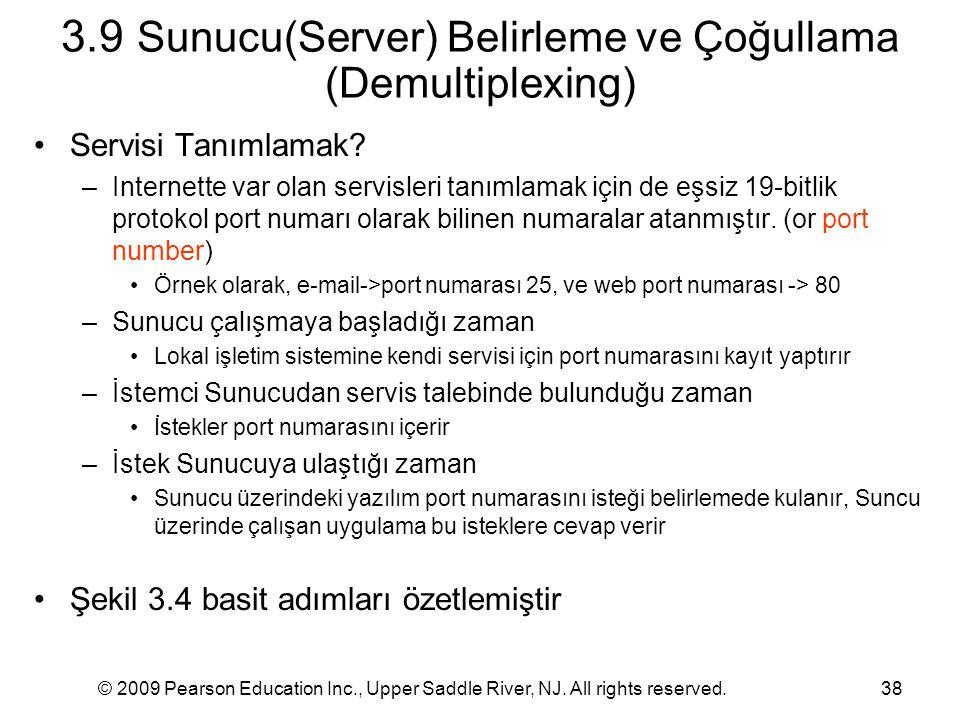 3.9 Sunucu(Server) Belirleme ve Çoğullama (Demultiplexing)