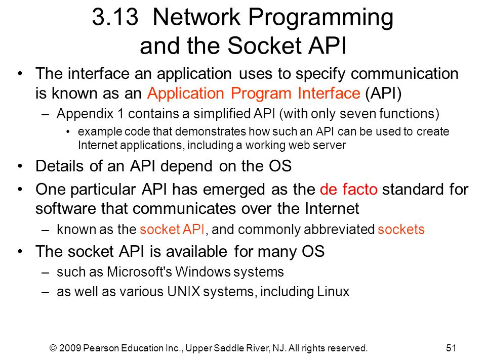 3.13 Network Programming and the Socket API