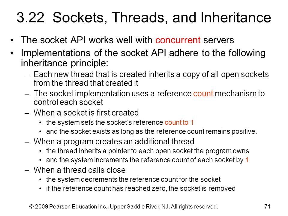 3.22 Sockets, Threads, and Inheritance