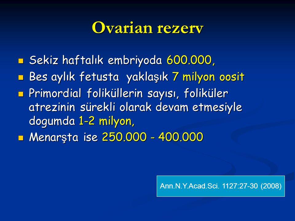Ovarian rezerv Sekiz haftalık embriyoda 600.000,