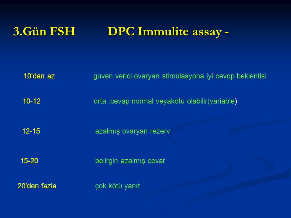 3.Gün FSH DPC Immulite assay -