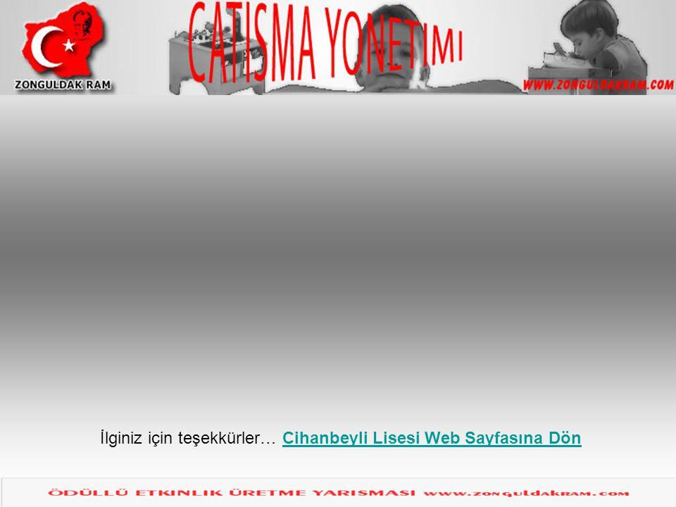 İlginiz için teşekkürler… Cihanbeyli Lisesi Web Sayfasına Dön