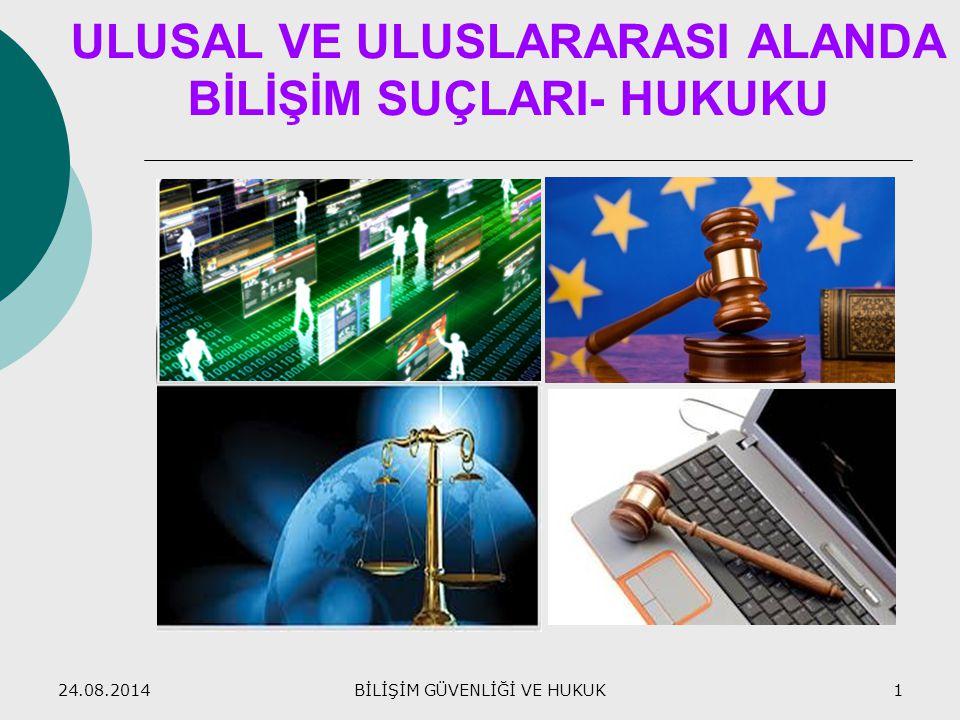 ULUSAL VE ULUSLARARASI ALANDA BİLİŞİM SUÇLARI- HUKUKU