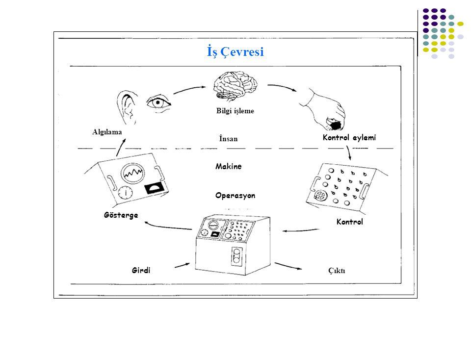 İş Çevresi Bilgi işleme Algılama Gösterge İnsan Makine Operasyon