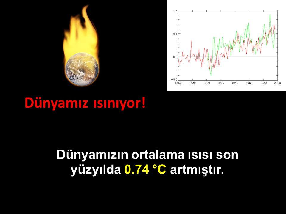 Dünyamızın ortalama ısısı son yüzyılda 0.74 °C artmıştır.