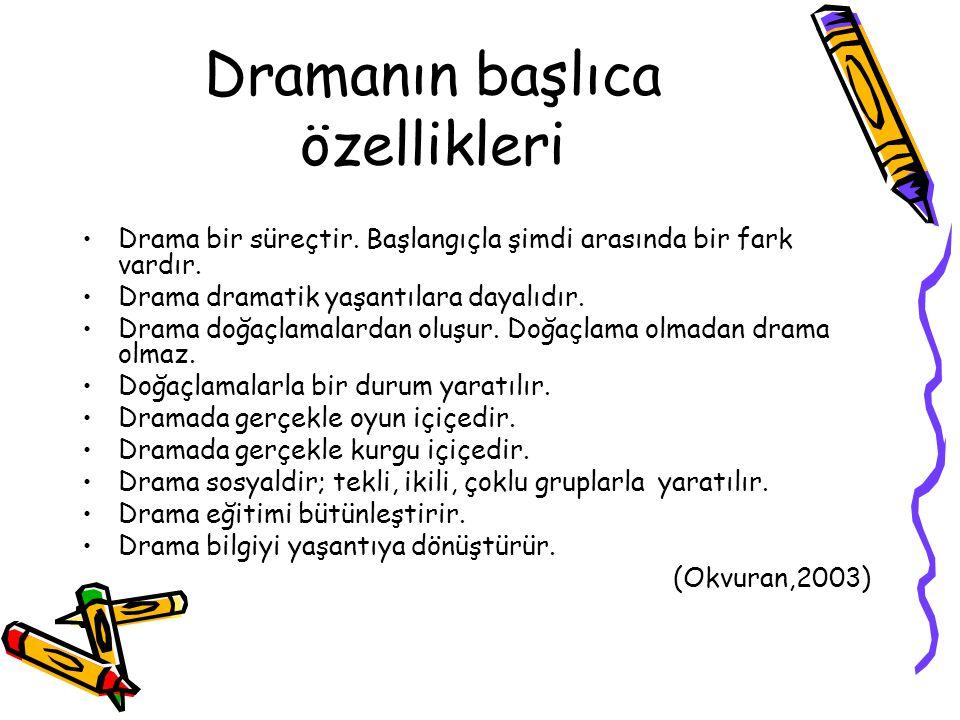 Dramanın başlıca özellikleri