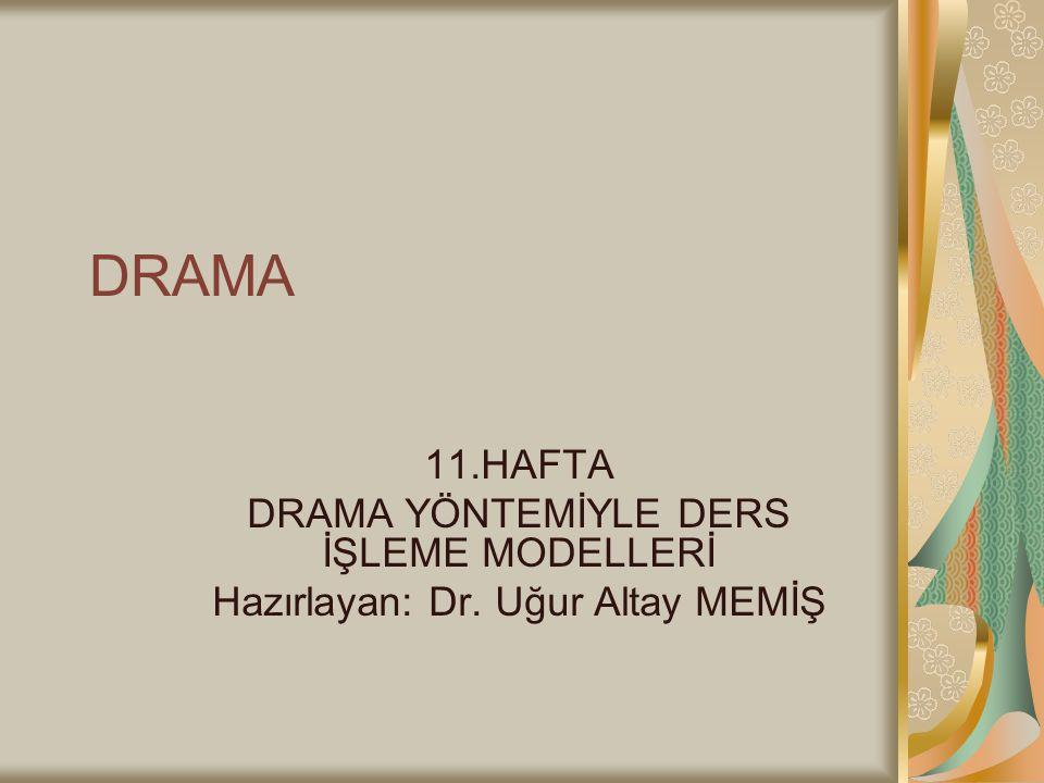 DRAMA 11.HAFTA DRAMA YÖNTEMİYLE DERS İŞLEME MODELLERİ