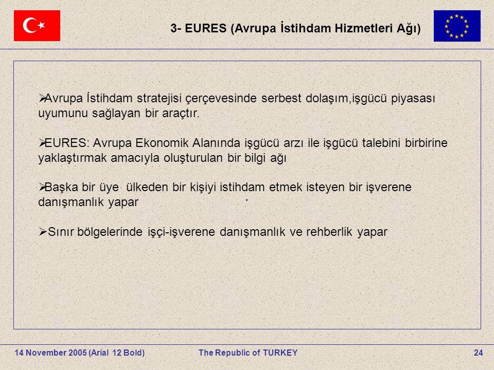 . 3- EURES (Avrupa İstihdam Hizmetleri Ağı)