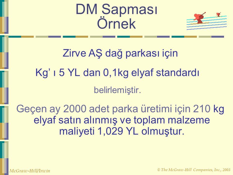 DM Sapması Örnek Zirve AŞ dağ parkası için