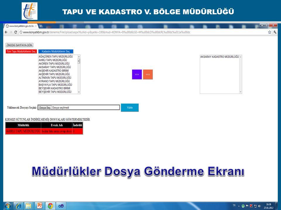 Müdürlükler Dosya Gönderme Ekranı