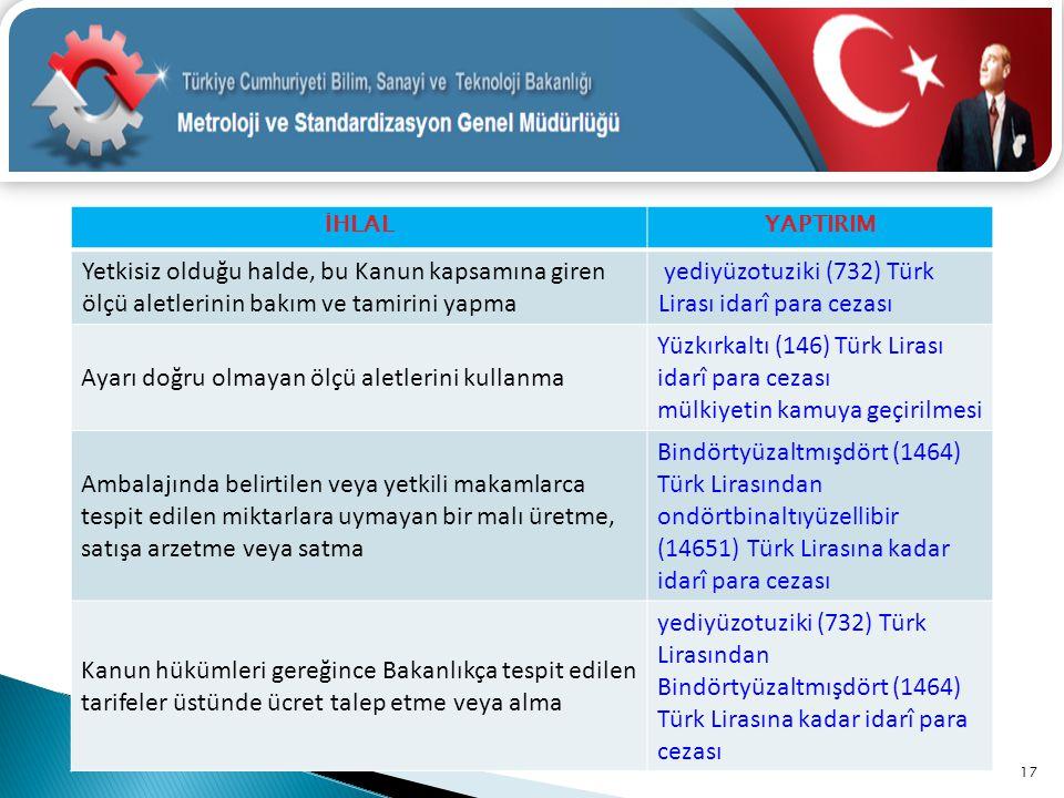 yediyüzotuziki (732) Türk Lirası idarî para cezası