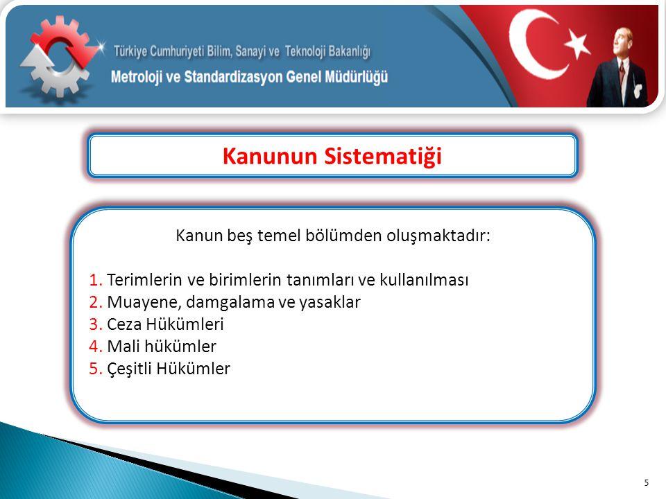 Kanun beş temel bölümden oluşmaktadır: