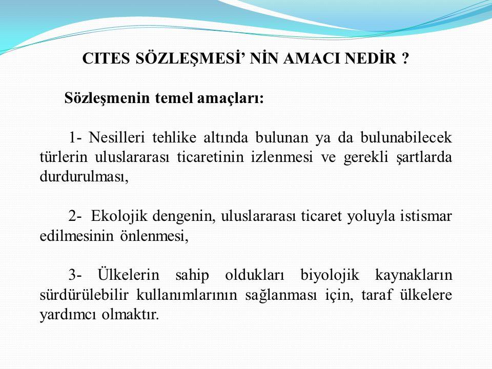 CITES SÖZLEŞMESİ' NİN AMACI NEDİR