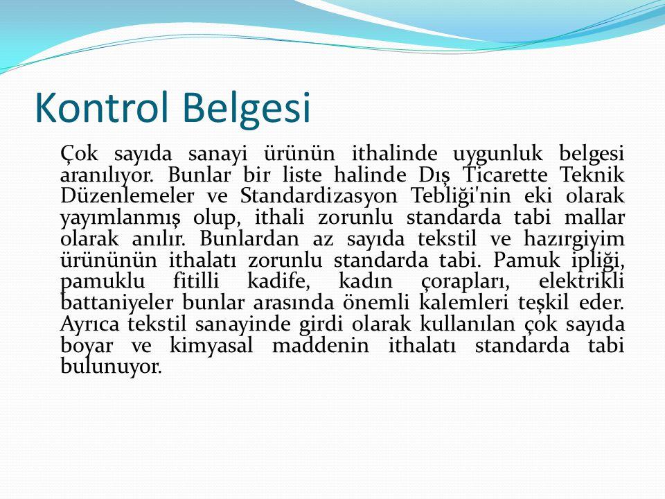 Kontrol Belgesi