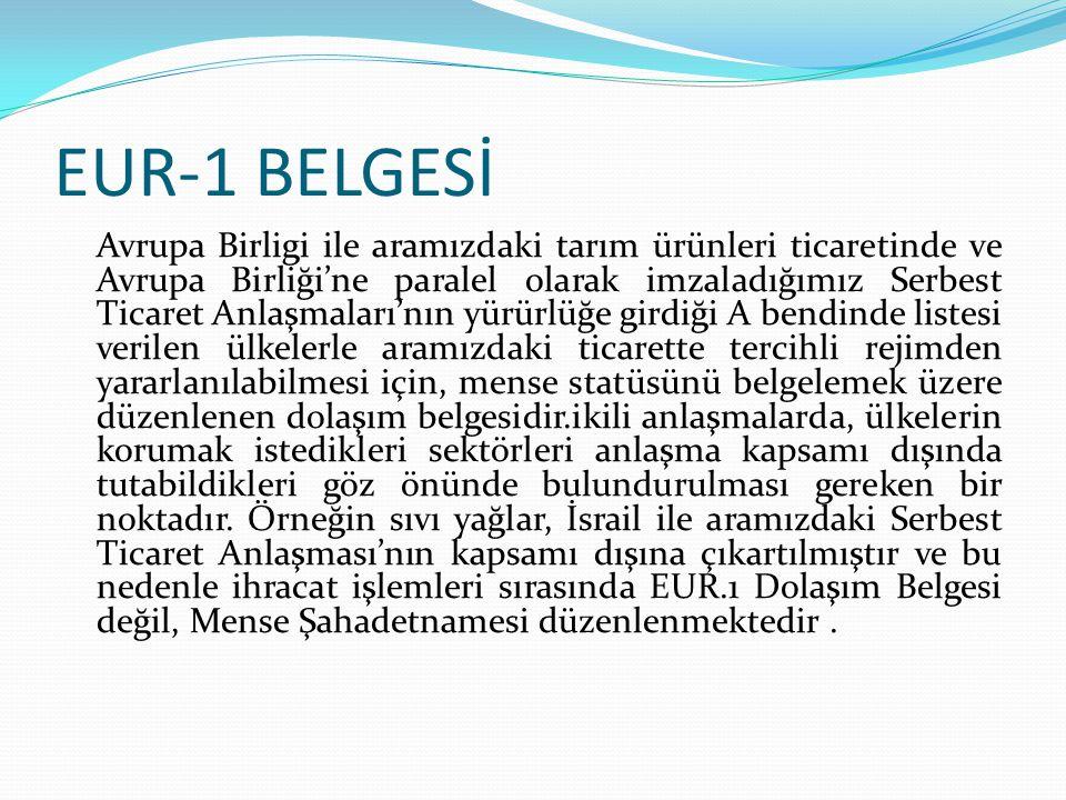 EUR-1 BELGESİ