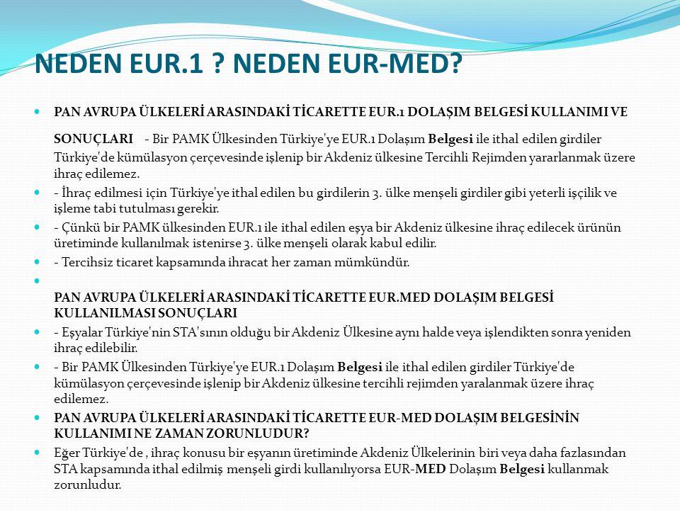 NEDEN EUR.1 NEDEN EUR-MED