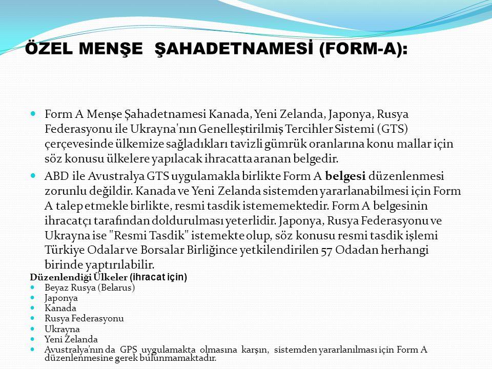 ÖZEL MENŞE ŞAHADETNAMESİ (FORM-A):