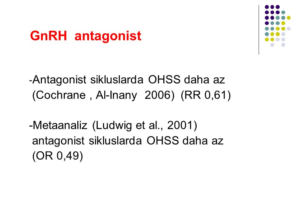 GnRH antagonist (Cochrane , Al-Inany 2006) (RR 0,61)