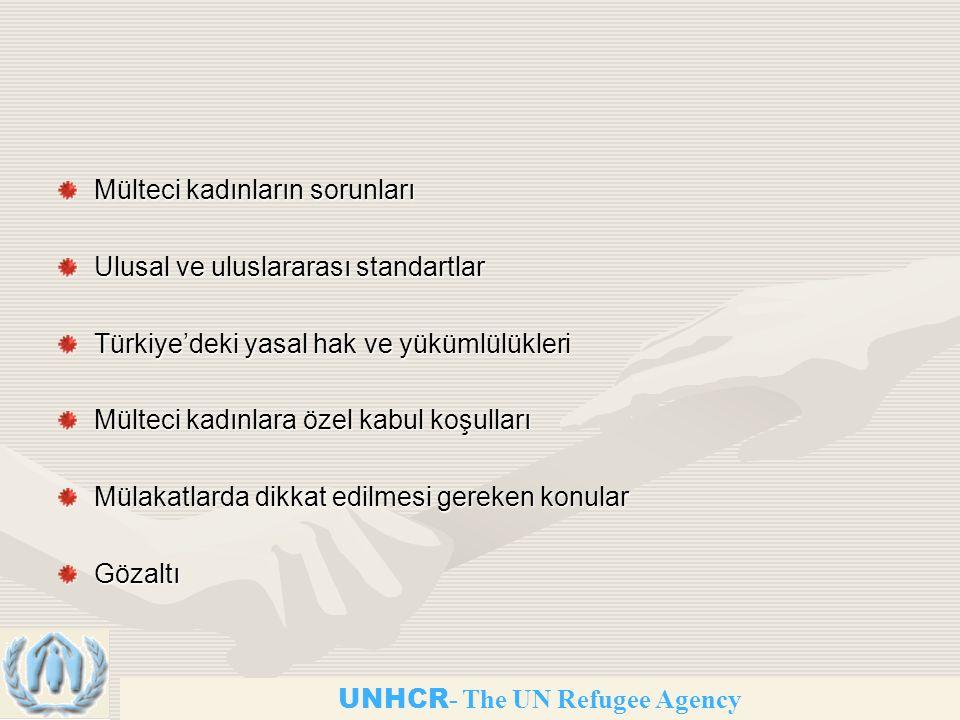 Mülteci kadınların sorunları