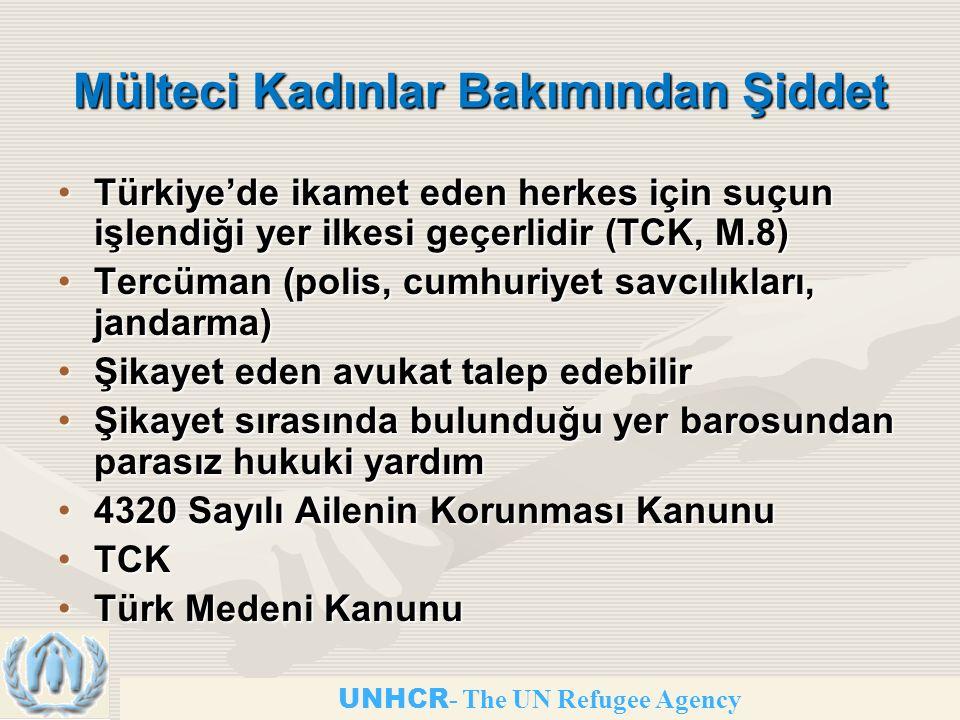 Mülteci Kadınlar Bakımından Şiddet