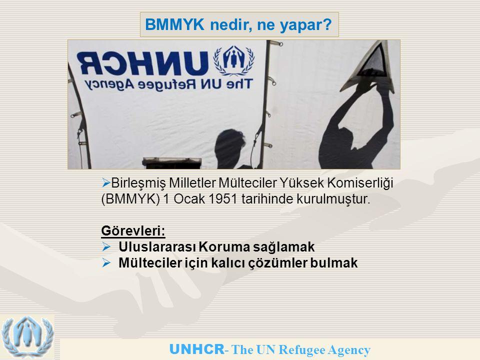 BMMYK nedir, ne yapar Birleşmiş Milletler Mülteciler Yüksek Komiserliği (BMMYK) 1 Ocak 1951 tarihinde kurulmuştur.