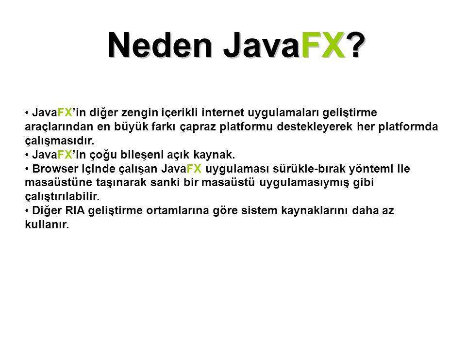 Neden JavaFX
