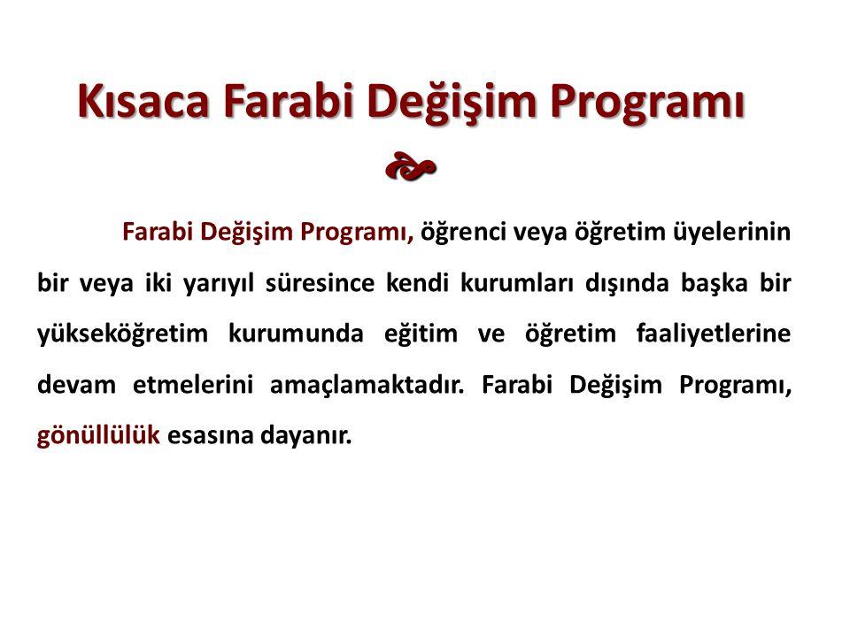 Kısaca Farabi Değişim Programı