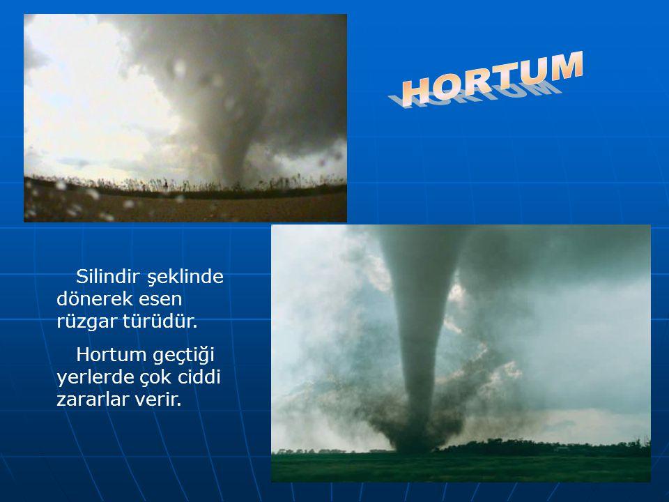 HORTUM Silindir şeklinde dönerek esen rüzgar türüdür.