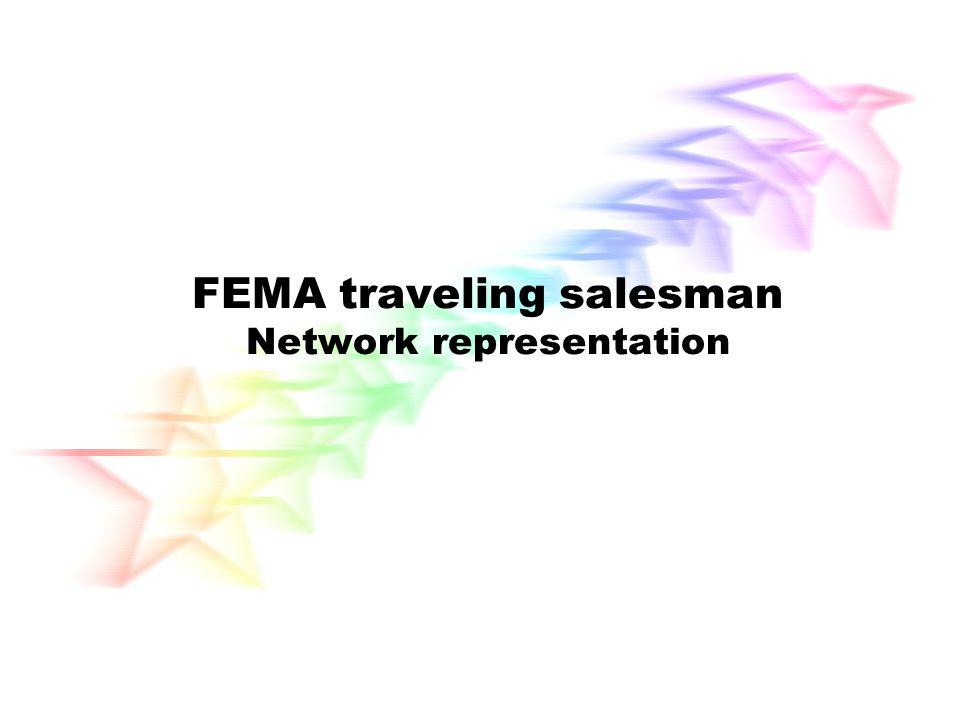 FEMA traveling salesman Network representation