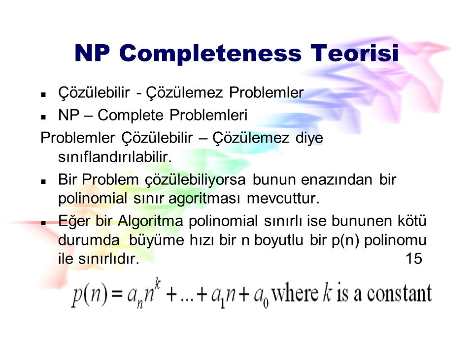 NP Completeness Teorisi
