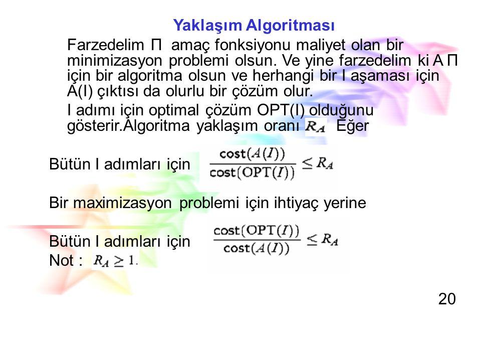 Yaklaşım Algoritması