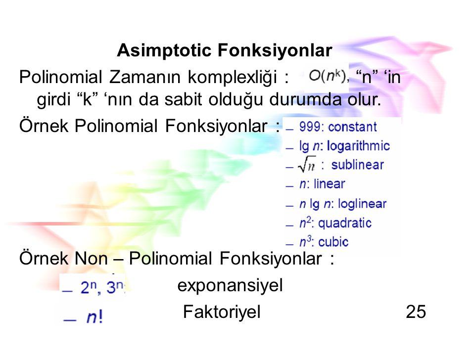 Asimptotic Fonksiyonlar