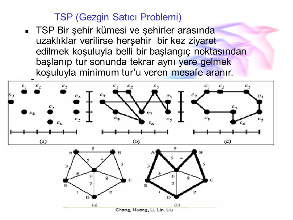 TSP (Gezgin Satıcı Problemi)