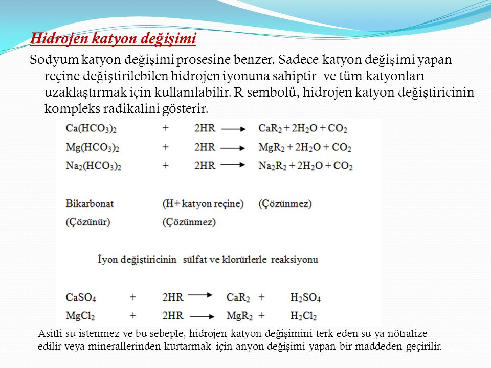 Hidrojen katyon değişimi