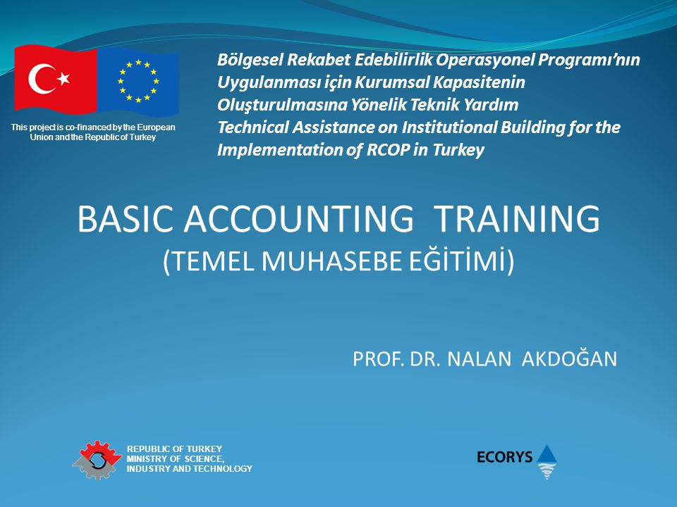 BASIC ACCOUNTING TRAINING