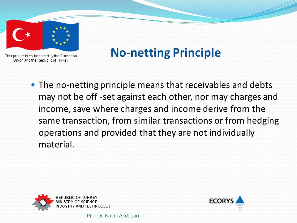 No-netting Principle