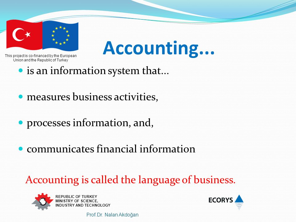 Accounting... is an information system that...