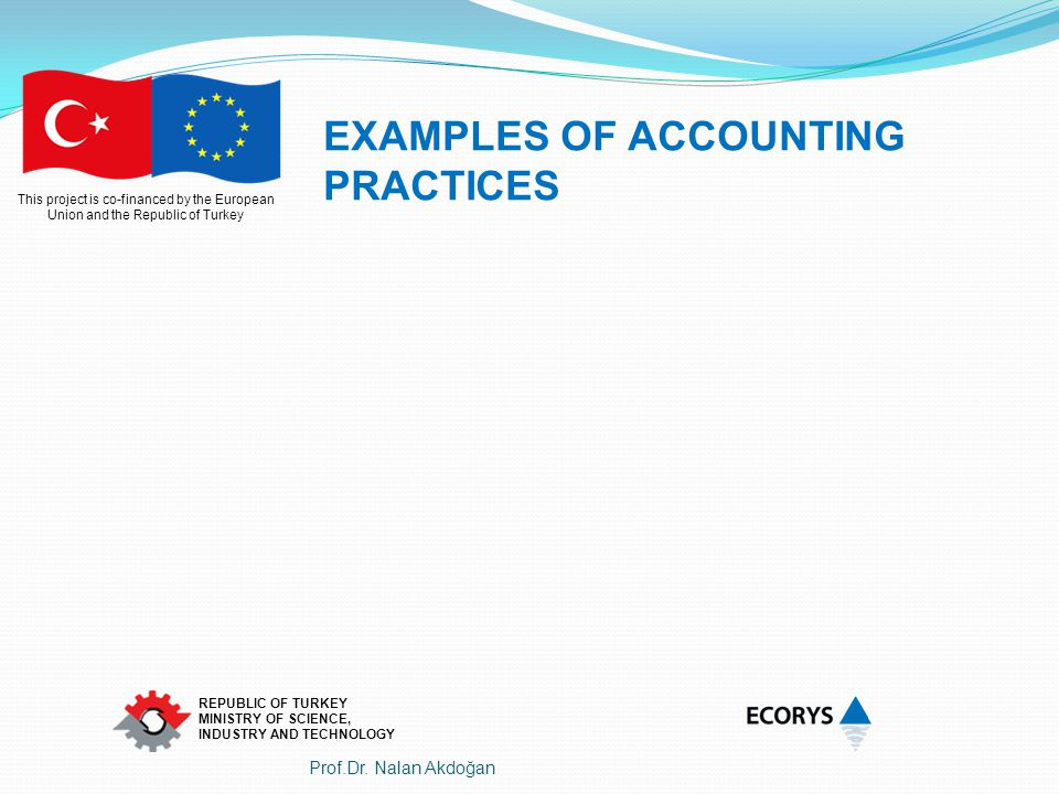 EXAMPLES OF ACCOUNTING PRACTICES
