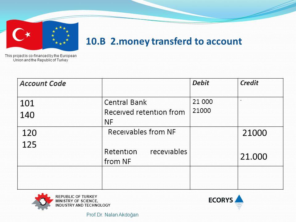 10.B 2.money transferd to account