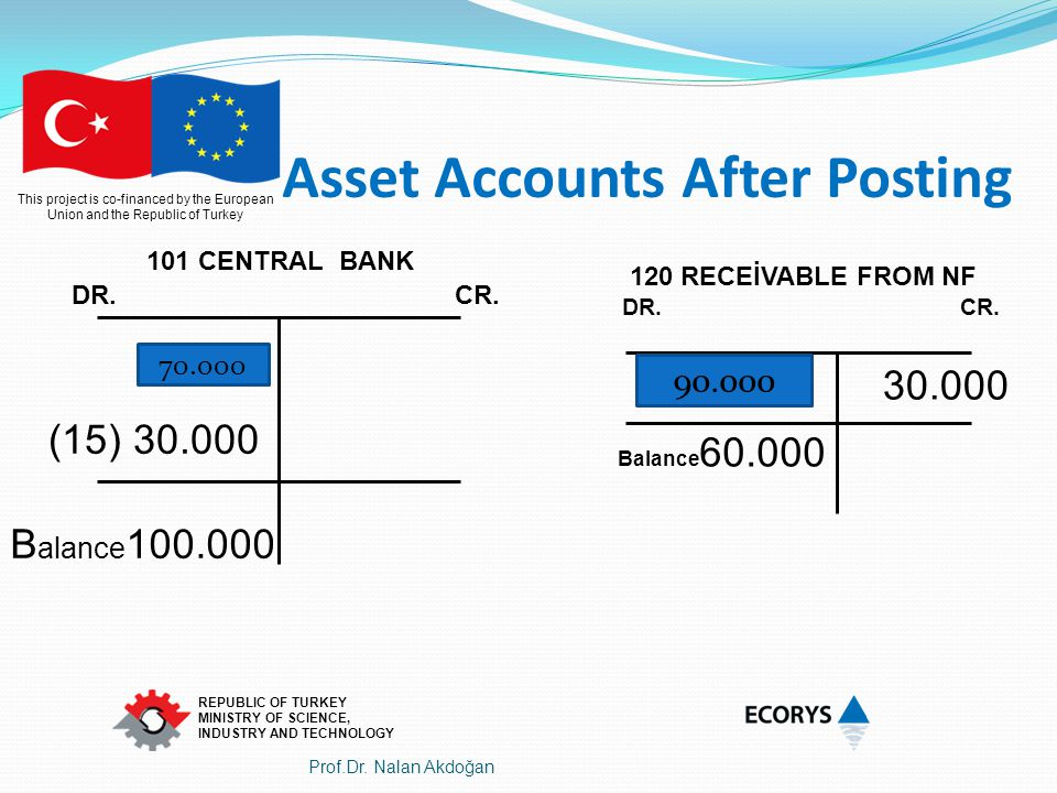 Asset Accounts After Posting
